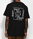 Low Card King Card Black T-Shirt