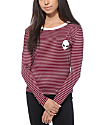 Lunachix Alien Stripe Long Sleeve Ringer T-Shirt