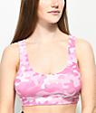 Lunachix Hot Pink Camo Sports Bra