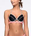 Malibu Colorblock Pink & Grey Molded Bikini Top