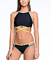 Malibu Colorblock Purple & Yellow Hipster Bikini Bottom