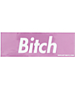 Married To The Mob Bitch In A Box Pink Foil Sticker