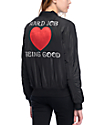 Married To The Mob Fly High Black Bomber Jacket
