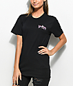 Married To The Mob Pink Camo Black T-Shirt