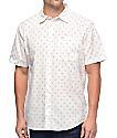 Matix Burst Micro Geo White Button Up Shirt
