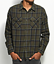 Matix Half Moon Olive Green Flannel Shirt