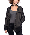 Members Only Washed Satin Black BF Jacket