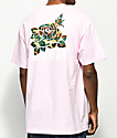 Meridian Skateboards Camo Rose Light Pink T-Shirt