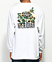 Meridian Skateboards Camo Rose White Long Sleeve T-Shirt