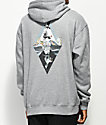 Meridian Skateboards Waves Grey Hoodie