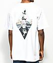 Meridian Skateboards Waves White T-Shirt