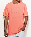 Neff Box Logo Neon Peach T-Shirt
