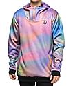 Neff Hero Shredded Pastel Tech Fleece Anorak Jacket