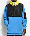 Neff Lift Blue, Yellow & Black Shredder Tech Fleece