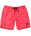 "Neff Neon Pink Nylon 19"" Board Shorts"
