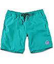 "Neff Neon Teal Nylon 19"" Board Shorts"