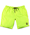 "Neff Neon Yellow Nylon 19"" Board Shorts"