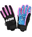 Neff Rover Eiki Pink, Blue & Black Pipe Snowboard Gloves