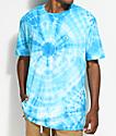 Neff Yeah Bro Blue Washed Tie Dye T-Shirt
