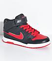 Nike SB Boys Mogan Mid 2 Anthracite & University Red Skate Shoes