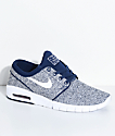 Nike SB Janoski Air Max Binary Blue & White Skate Shoes