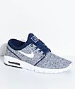 Nike SB Janoski Air Max Binary Blue & White Skate Shoes