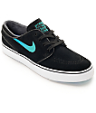 Nike SB Janoski Black & Hombre Blue Suede Women's Skate Shoes