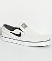 Nike SB Janoski Light Bone & White Slip-On Skate Shoes