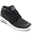 Nike SB Janoski Max Mid Black & White Skate Shoes
