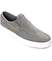 Nike SB Janoski Midnight Fog Slip On Women's Skate Shoes