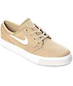 Nike SB Janoski Mushroom & Ivory Canvas Skate Shoes