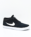 Nike SB Portmore II Mid Black & White Skate Shoes