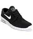 Nike SB Stefan Janoski Air Max Black & White Suede Shoes