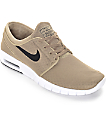 Nike SB Stefan Janoski Air Max Khaki, Black, & White Shoes