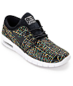 Nike SB Stefan Janoski Air Max Premium Tripper Black, White & Multicolored Shoes