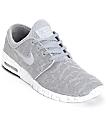 Nike SB Stefan Janoski Air Max Wolf Grey & White Mesh Shoes