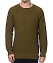 Ninth Hall Commando Green Waffle Knit Sweater