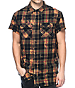 Ninth Hall Pablo Black & Bleached Short Sleeve Flannel Shirt