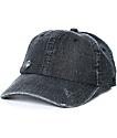 Ninth Hall Trifecta Black Washed Strapback Hat