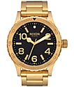 Nixon 46 All Gold & Black Analog Watch