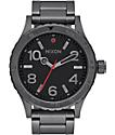 Nixon 46 All Gunmetal Analog Watch