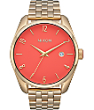 Nixon Bullet Light Gold & Coral Analog Watch