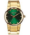 Nixon Cannon Gold & Green Analog Watch