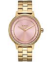 Nixon Kensington Light Gold & Pink Watch