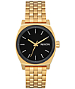 Nixon Medium Time Teller Gold, Black & White Watch