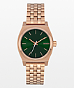 Nixon Medium Time Teller Rose Gold & Emerald Green Analog Watch