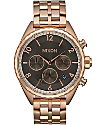 Nixon Minx Chrono All Rose Gold & Gunmetal Watch