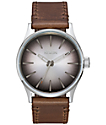 Nixon Sentry 38 Leather Ombre Taupe Analog Watch