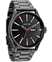 Nixon Sentry SS Gunmetal Analog Watch