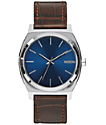 Nixon Time Teller Brown Gator & Blue Watch